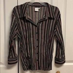 Bay Studios Career Blouse Size XL Striped